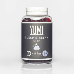 YUMI Bedtime 5-HTP 100mg, Griffonia Extract - 60 Passion Fruit Flavour Vegan ...