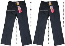 New Girls Marks & Spencer Bootleg Blue School Trousers Age 9 Years x 2