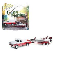 """1959 FORD F-250 RED/WHITE """"GONE FISHING"""" 1/64 JOHNNY LIGHTNING JLBT002-36E Ver.B"""