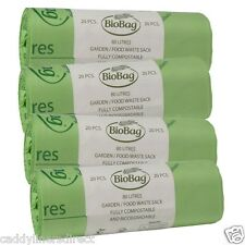 80 Litre x 80 BioBag Compostable Biodegradable Food / Garden Waste Sacks (80L)