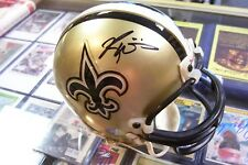 RICKY WILLIAMS SIGNED SAINTS MINI HELMET 2001 ABSOLUTE MEMORABILIA 725/1046