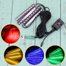 Remote Control Voice Car 12V LED Interior Footwell Lights Strip Disco UK SHIP