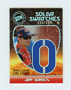 Jeff Gordon 2008 Press Pass Eclipse Solar Swatches Race Used Car Cover Insert RU