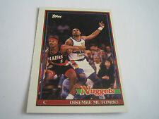 1992/93 TOPPS ARCHIVES BASKETBALL DIKEMBE MUTOMBO CARD #146***DENVER NUGGETS***