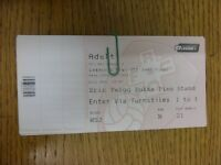 15/05/2014 Ticket: Play-Off League 1 Semi-Final, Rotherham United v Preston Nort