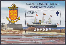 Jersey 2008 Naval Connections (2nd) HMY Britannia MS UM SGMS1386 Cat £7.00