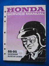 SA50 1988 - 1995 Honda SA50 Elite Original Service Shop Manual