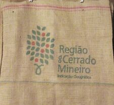 Burlap Jute Brazil Coffee Bean Bag Gunny Sack Crafts Decorating Ad, FREE S&H