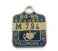 ".SCARCE 1984-85 ""THE CASTELLORIZIAN CLUB"" NSW MEMBERS BADGE / FOB."