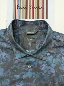 PAUL SMITH SHIRT L - 17 inch Collar EXCELLENT CIONDITION - Floral Pattern - COOL