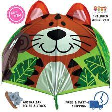 Jungle Tiger Monkey Umbrella For Children Kids Animal 3D Rain Play School