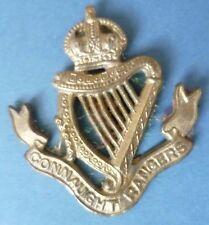 Badge- VINTAGE Connaught Rangers Cap Badge KC (BRASS, Genuine*)