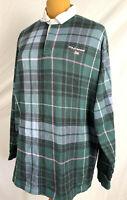 Vintage 90s Polo Sport Ralph Lauren Tartan Plaid Rugby Shirt Made In USA XLarge