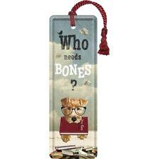 Lesezeichen * Who Needs Bones? * 15x5cm  Nostalgic Art   Metall