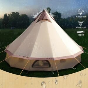 Waterproof 8-10 Person Outdoor Camping Tent Family Large Space Tarp Shelter Yurt