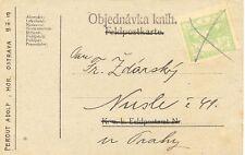 TSCHECHOSLOWAKEI 1919 5H hellgrün Hradschin EF handschr Nachträgliche Entwertung
