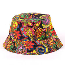 Bucket Hat Cotton Fishing Beach Festival Casual Sun Hunting Summer Outdoor Cap