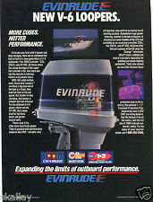 1986 Print Ad of Evinrude V6 Looper Outboard Motor