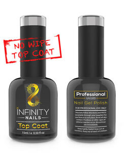 INFINITY NAILS™ Top coat - nail gel polish - UV/LED - NO WIPE TOP 15ml