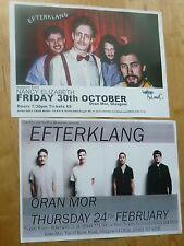 Efterklang live music memorabilia Scottish tour Glasgow concert gig posters x 2