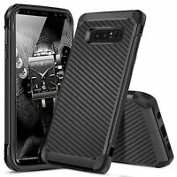 For Samsung Galaxy Note 8 Shockproof Hybrid Carbon Fiber Armor Phone Case Cover