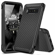 For Samsung Galaxy Note 8 Phone Case Cover Shockproof Hybrid Carbon Fiber Armor