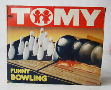 VERY RARE VINTAGE 80'S TOMY FUNNY BOWLING WIND UP GAME NEW NOS !