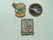 3 Genuine Us Helicopter Vietnam War Era Cloth Badges / Patches