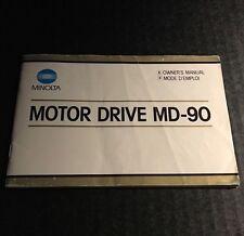 Vintage Minolta Maxxum Motor Drive MD-90 for SLR Cameras - Instruction Manual