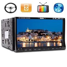"CA9 Samsung Lens Double 2 Din 7"" In Dash Stereo Car DVD Player BT Radio iPod SD"