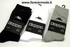 3 Paia di Calzini calze uomo Kappa corte in cotone con logo ricamato art K546