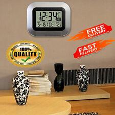 La Crosse Technology Atomic Digital Wall Clock, Indoor and Outdoor Temperature
