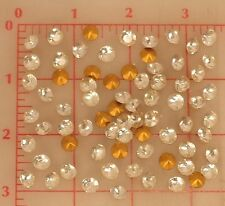 72 vintage glass faceted Czech pointed back rhinestones 7.2mm 34SS fire polished