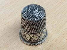 More details for vintage sterling silver thimble 1976