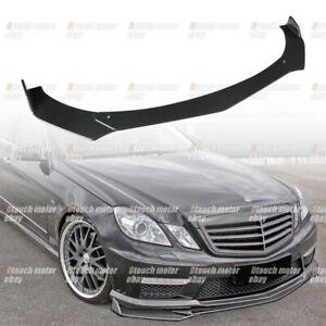 For Mercedes Benz E350 Front Lip Splitter Spoiler Body Kit E-Class E65 E63 E400