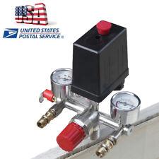 New listing Max 125Psi Air Compressor Pressure Switch Control Valve Manifold Regulator Gauge