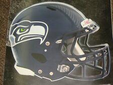 "SEATTLE SEAHAWKS HELMET NFL Fathead Wall Graphics 11"" x 9""  (Poster/Sticker)"