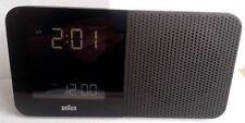 Radio-Réveil Quartz BRAUN Noir - Radio-Piloté -LCD - BNC010BK-RC Modèle d'expo
