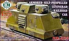 1/72 WWII Armored self-propelled Leningrad railroad car UMMT 604 Models kits