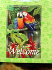 Mccaw Pair Vibrant Tropical Lanai Outdoor Welcome Large Flag 24 X 36