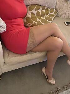 Luxury Lace Top Medium Hold Up Stockings, nude, large