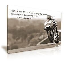 Valentino Rossi Moto GP Icône Art Mural Toile Photo Imprimer format A1 76cmx50cm