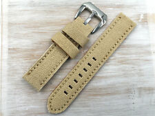 Watch Strap Lorica Beige News Good Quality Various Sizes Unisex Steel Buckle