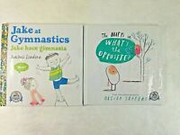 Lot of 2 Children's Books Jake at Gymnastics and The Hueys in Whats the Opposite
