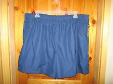"NEW BIG MENS 3XL NAVY BLUE SWIM SHORTS LINED TRUNKS Above Knee 18"" Outseam"