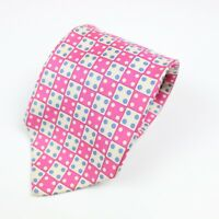 Etro Milano Men's Neck Tie 100% Silk Pink Cream Blue Dice Gambling Italy #4