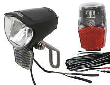 LED Fahrrad-Lampen Set Nabendynamo Steady 75 Lux Rücklicht Schutzblech Montage