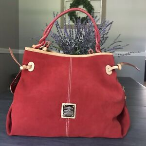 DOONEY AND BOURKE MAURIZIA SUEDE BAG STUNNING RED NWT