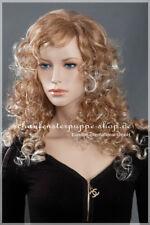 Perücke Schaufensterpuppe Figur Kopf Haare et-w030 Neu braun  frau wig women