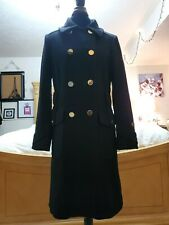Tahari Loro Pianna Black 100% Wool Coat Size 10